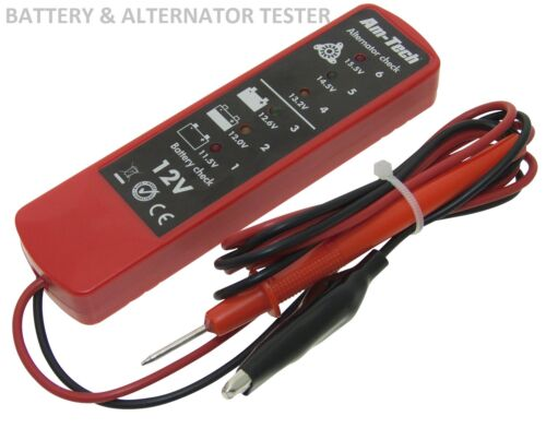 12V Volt DC Battery /& Alternator Tester Checker 6 LED Car Van Garage