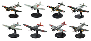 Set of 8 Japanese Aircrafts WW2 1:72 Military plane diecast DeAgostini LAC23