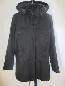 Manteau femme à capuche laine