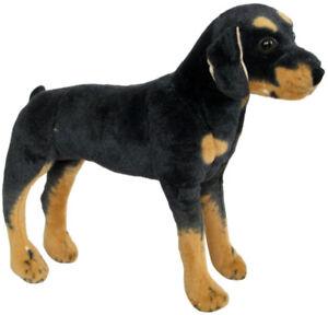 PLUSCHTIER-PLUSCH-HUND-ROTTWEILER-50cm-NEU-Plueschhund-Stoffhund-Kuscheltier