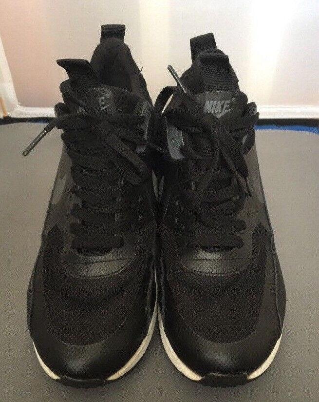 Nike Airmax 90 Sneakerboot Mens Running shoes 616314-002 SIze 8 Black