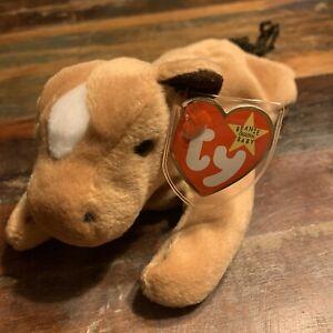 Ty Beanie Baby Derby The Horse 1995 Retired Mwmt