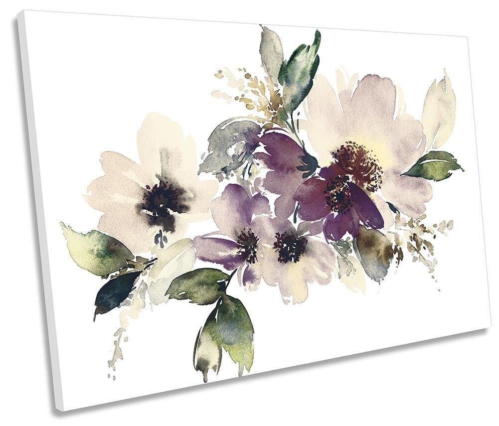Watercolour Cream Flower Floral SINGLE CANVAS wand kunstWORK drucken kunst