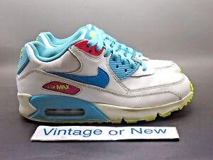 new styles b35d3 2ec3b Image is loading Girls-Nike-Air-Max-039-90-White-Lagoon-