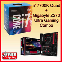Intel I7-7700k Quad Core + Gigabyte Z270x-ultra Gaming Motherboard Combo