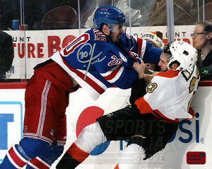 Chris Kreider New York Rangers Signed Autographed Fight vs Flyers Manning 8x10