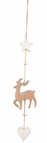 2 Colours NEW Home Hanging Decoration Wooden Stag Long Hanger Stunning