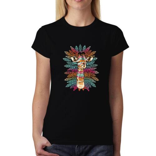 Giraffe Bunt Damen T-shirt XS-3XL