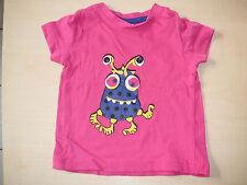 Papagino witziges T-Shirt Gr. 62 / 68 rosa mit Monsterdruckmotiv !!