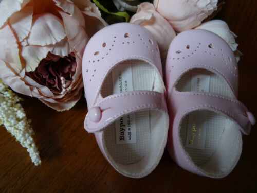 Baby Girl PINK Patent Mary Janes Pram Shoes Christening Size 0-1-2//0-3-6-12m