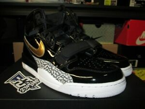 0ef24e263145 SALE AIR JORDAN LEGACY 312 PATENT LEATHER BLACK METALLIC GOLD WHITE ...