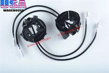 H7 Halogen Headlight HID Bulb Holders Adapters For Volkswagen VW Golf GTI Passat