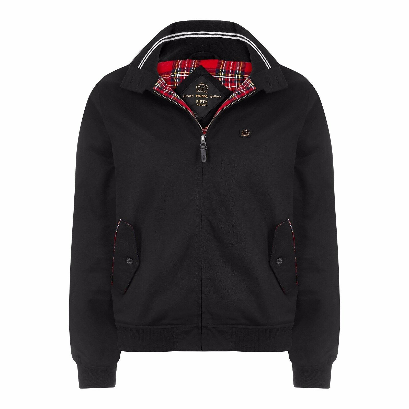 LIMITED Edition ANNIVERSARIO 50TH ANNIVERSARIO Edition Merc London Harrington Giacca-Nero e036ef