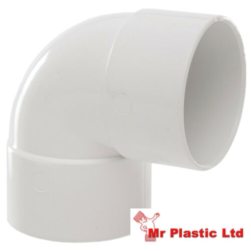 actual size 55mm Polypipe 50mm Solvent Weld Waste Pipe Fittings in White
