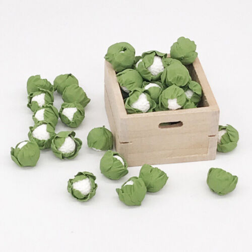 5Pcs Mini handmade clay vegetables Dollhouse miniatures cauliflower cabODS*