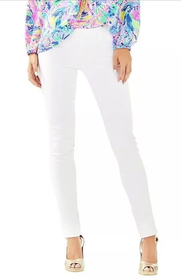 NWT new Tags Lilly Pulitzer Alessia Stretch Dinner Pants White 30'' Summer 6