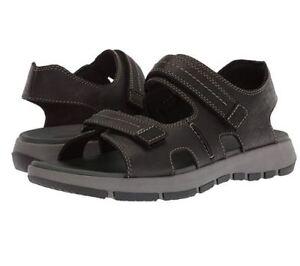 a39c87e0e32 Clarks Men s Brixby Shore Sz US 13 M Black Leather Strap Sandals ...