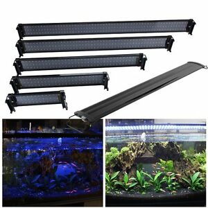 aquarium beleuchtung led lampe aufsetzleuchte abdeckung klemmleuchte 30 120cm de ebay. Black Bedroom Furniture Sets. Home Design Ideas