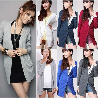 Women Ladies Warm Long Sleeve Cardigan Knitted Sweater Tops Jacket Coat Clothes