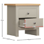 thumbnail 2 - Arlington 2 Drawer Bedside Chest of Drawers Table Cabinet Bedroom Storage Grey