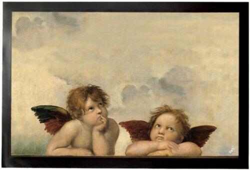 60x40cm #92516 Raphael-raffaels Ángel Sixtina Madonna felpudo türmatte