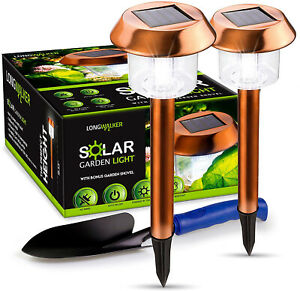 Solar Led Garden And Pathway Lights Copper Extra Bright 15