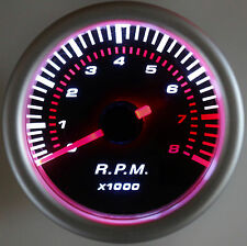 "2"" Tach 8,000 RPM 12 Volt Smoke Lens Back Lit 8022SB"