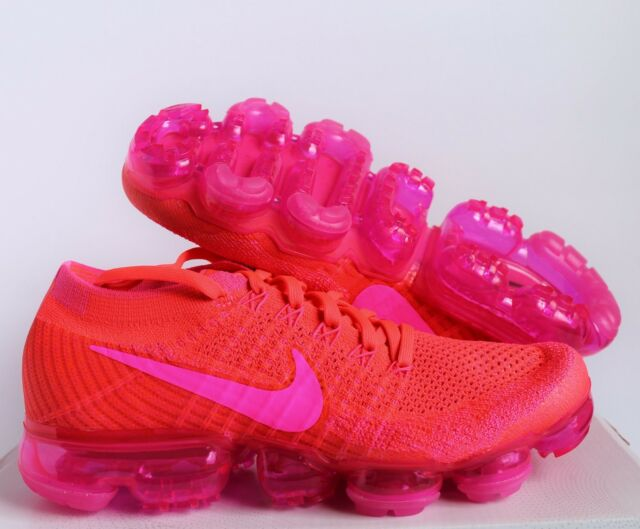 sports shoes 56324 d5d6a Nike Women Air Vapormax Flyknit HYPER Punch-pink Blast Sz 5 849557-604