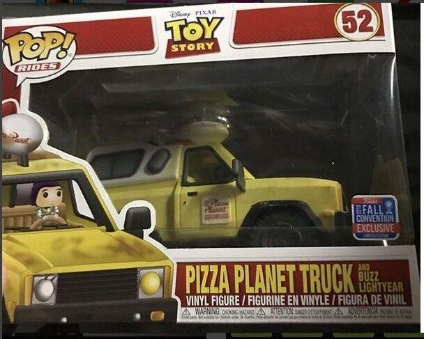 TOY historia Pizza Planeta camión NYCC 2018 exclusivo FUNKO Pop Vinilo Figura En Mano