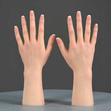 11 Female Real Size Silicone Hand Model Realistic Soft Touch Leftright Hands