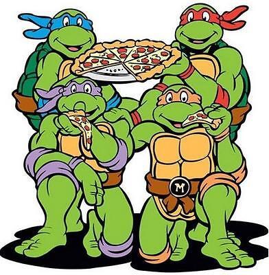 Teenage Mutant Ninja Turtles # 11 - 8 x 10 Tee Shirt Iron On Transfer pizza