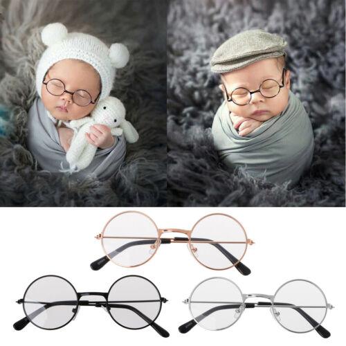Newborn Baby Boy Girl Flat Glasses Photography Props Gentleman Studio Shoot