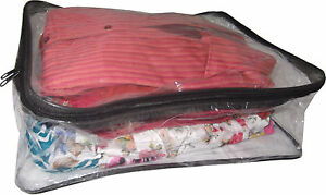 Large Clear Plastic Clothes Garments Underbed Storage Bags Zipper Depth Ebay