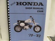 HONDA Z50R 1979-1983 Shop Manual w/ 1980-1983 Addendums