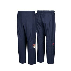 Florida-Panthers-NHL-Adidas-Men-039-s-Navy-BLue-Center-Ice-Authentic-Rink-Pants