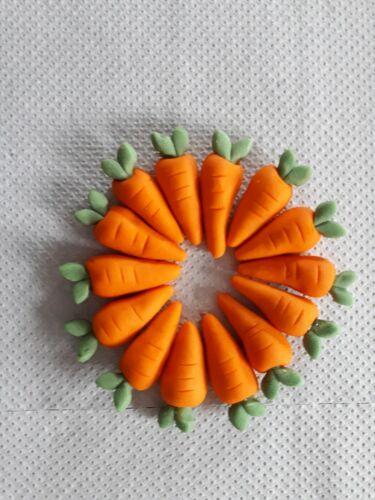 200 Large bundle handmade carrot decorations cupcakes//carrot cake vegan