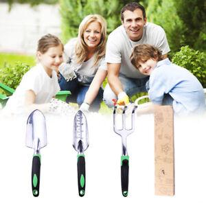 Garden Tool Set (3 Pack) Small Spade Shovel Rake Heavy Duty Gardening Tools NEW