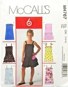 Girls-Summer-Party-Holiday-Dress-Sewing-Pattern-M4767-Size-7-8-10-McCalls