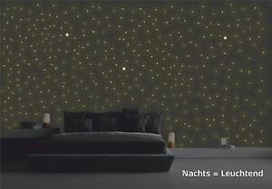 Wandtattoo leuchtende sterne und punkte 380 st ck sternenhimmel selbstleuchtend ebay - Leuchtende wandtattoos ...