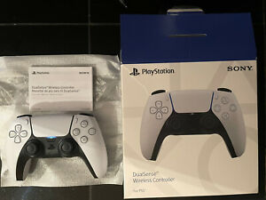 Playstation 5 (PS5) DualSense Wireless Controller - White (Used) With Box - SONY