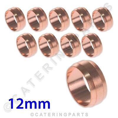 PACK OF 10 x 22mm COPPER OLIVES TUBING PIPING FITTINGS GAS PILOT TUBES PLUMBING