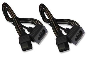 2-x-NES-NINTENDO-ENTERTAINMENT-SYSTEM-CONTROLLER-EXTENSION-CABLES-UK-Seller