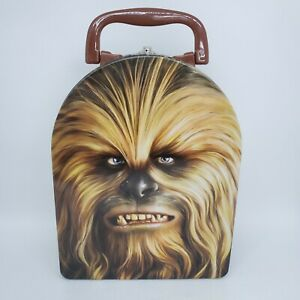 """Star Wars Chewbacca Tin Carrier by Lucasfilm Ltd Snap Close Plastic Handle 9""""h"""