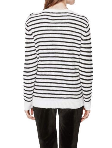 W sort Prim Sweater Rebecca 198 patches Kvinderkridt Minkoff Nwt Stripe cHCnta6qSt