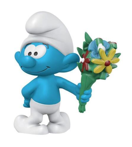 Les Schtroumpfs figurine Schtroumpf avec un bouquet de fleurs 5 cm smurf 012181
