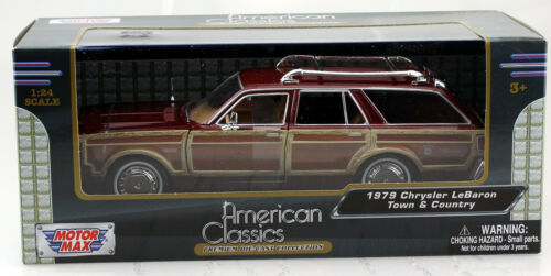 Chrysler Le Baron Town /& Country braun 1979 1:24 Motor Max Modellauto