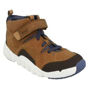 Tri Up Chicos diarios Lace Clarks Tan Zapatos Mimo Casual Leather Botines Tamaño vqAxwIqH