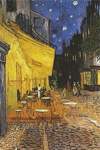 Details About Poster Terrasse De Cafe La Nuit Cafe Terrace At Night Vincent Van Gogh