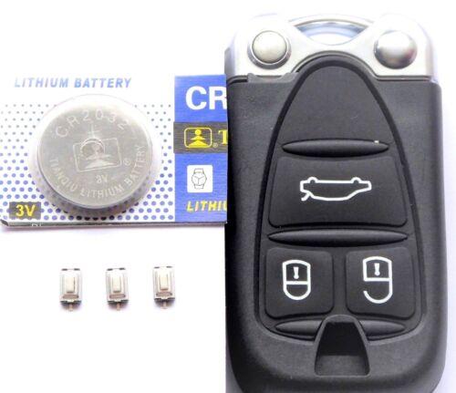 Auto Smartkey Gehäuse für Alfa Romeo 159 Spider Brera  /& Taster /& CR2032