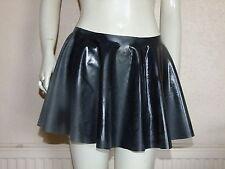 Rubber Skirt Circle Skating Black Mini Latex Silicone Mix M / L Roleplay Short